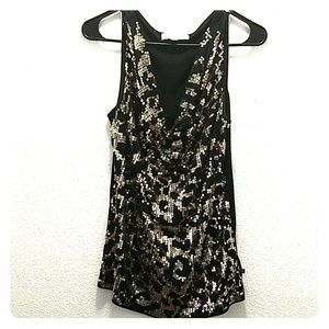 Michael Kors Women's Sequin Sleeveless Top M